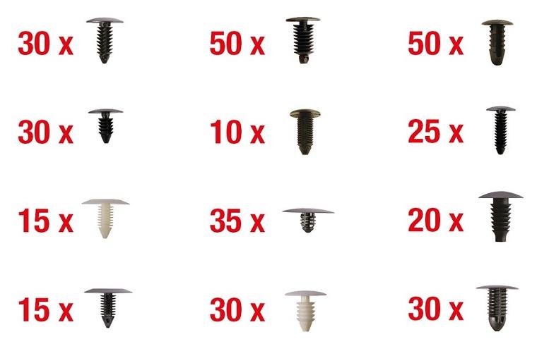 Set 340 clipsuri universale prindere elemente tapiterie