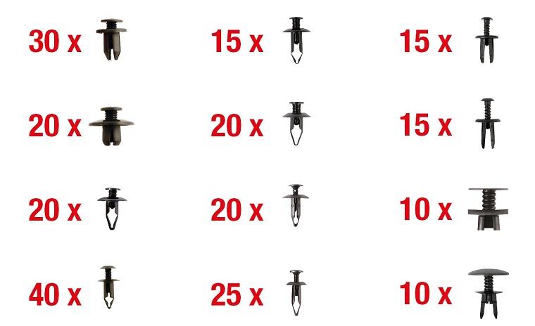 Set clipsuri auto universale (240 buc)