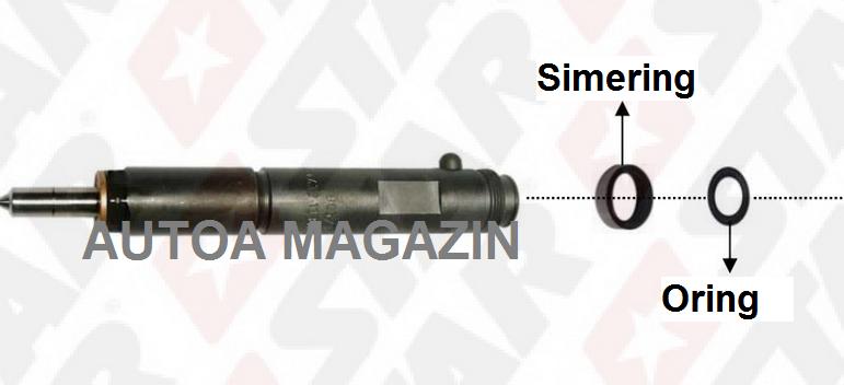 simering injector opel 2.0 si 2.2 diesel