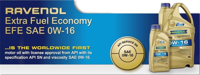 Ulei motor Ravenol EFE (Extra Fuel Economy) 0W16 1L