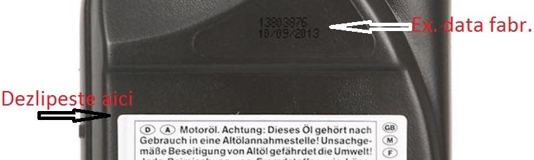 eticheta ulei opel 10w40 1L