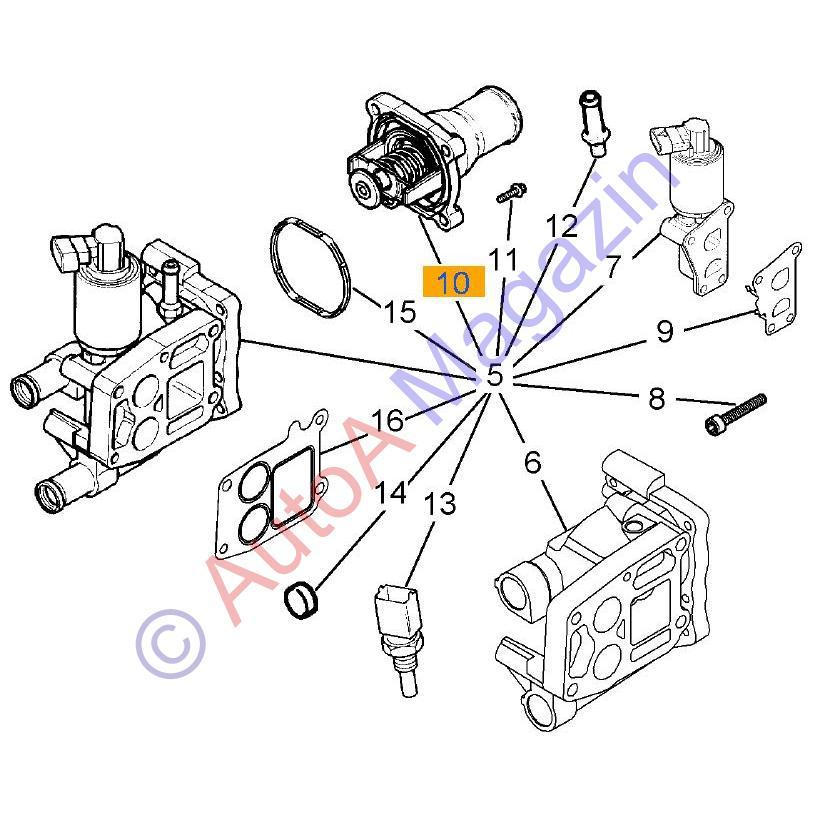termostat racire motor  cu carcasa  astra g z16xep