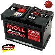 Acumulator auto Moll M3 Plus K2  75Ah / 680A