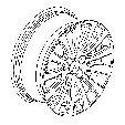 Janta aliaj Opel Insignia 8j X 18 Et.42 - 5 Prezoane 13 Spite